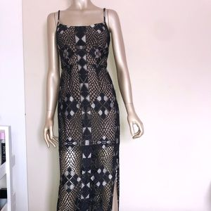 Beautiful BCBG lace gown